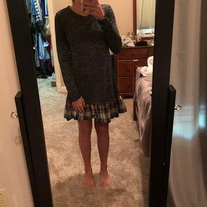SHEIN DRESS WITH PLAID RUFFLE BOTTOM